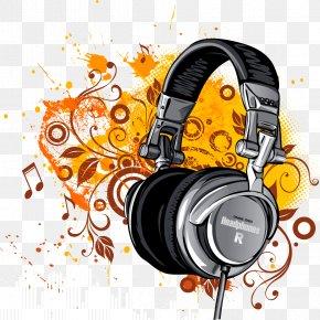 Headphones Yellow Splash Effects Vector - Laptop High-definition Television Headphones Display Resolution Wallpaper PNG