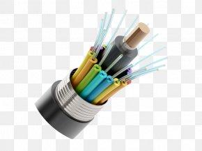 Optical Fiber Cable Electrical Cable Dark Fibre Optics PNG