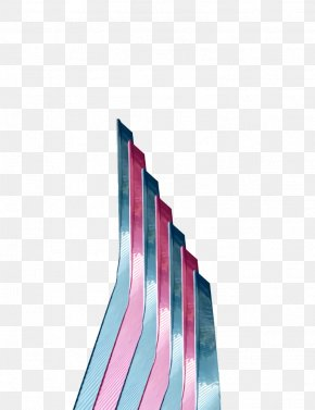 Rectangle Tie - Pink Blue Turquoise Aqua Line PNG