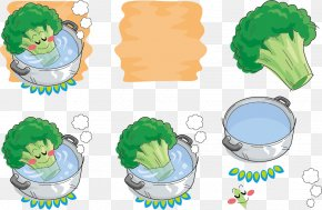 Vector Hand-drawn Bath Broccoli Expression - Broccoli Vegetable Icon PNG