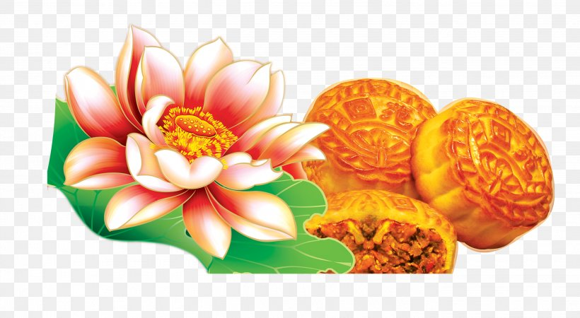 Mooncake Mid-Autumn Festival Falun Gong Happiness Day, PNG, 2835x1559px, Mooncake, Day, Falun Gong, Flower, Food Download Free