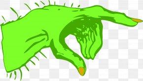 Monster - Hand Monster Index Finger Clip Art PNG
