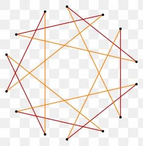 Triangle - Heptagram Triangle Star Polygon Tetradecagon PNG
