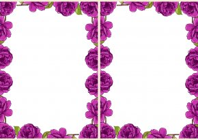 Free Printable Floral Borders And Frames - Garden Roses Paper Floral Design Drawing PNG