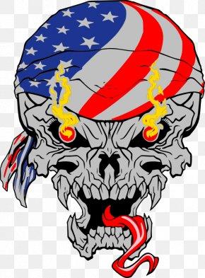 Skull - Skull & Bones Logo Metal Car PNG