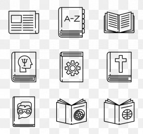 Ebook Icon - Library Paper PNG