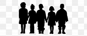 Children Playing - Silhouette Drawing Clip Art PNG
