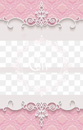 Romantic Pink Wedding Background Material - Paper Visual Arts Pink Pattern PNG