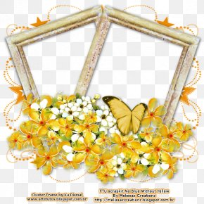Yellow Crown Frame Picture - Butterfly Insect Pollinator Flower Invertebrate PNG