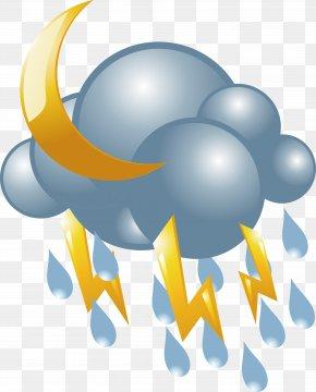 Lightning Lightning Vector Icon - Lightning Rain Cloud Icon PNG
