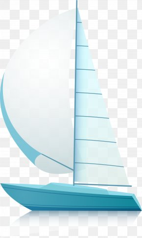 Blue Sailing Ship - Sailing Ship PNG