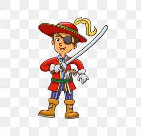 One Piece Boy - Piracy Cartoon Illustration PNG