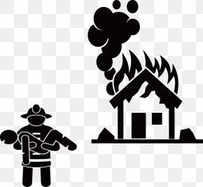 Fire Rescue - Firefighter Stick Figure Firefighting PNG