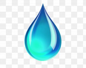 Delicate Blue Water Droplets - Drop PNG
