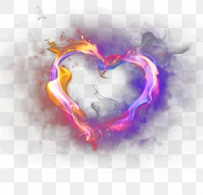 Violet Flame - Heart Light Icon PNG