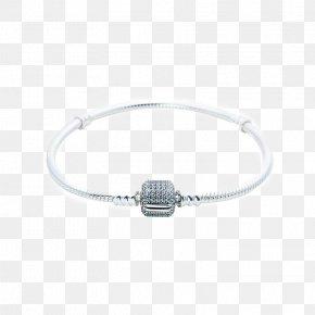 PANDORA Pandora Silver Bracelet Two Cylindrical Foundation - Bracelet Pandora Jewellery Bangle Jewelry Design PNG