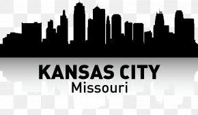 KANSAS,CITY - Kansas City Skyline Silhouette Poster PNG