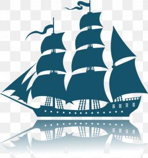 There Are Sail Boat - Sailing Ship Euclidean Vector Clip Art PNG