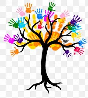 Handprint Kids - Tree Branch Trunk Clip Art PNG