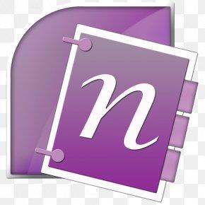Free Icon Microsoft Onenote - Microsoft OneNote Microsoft Office SharePoint Application Software PNG