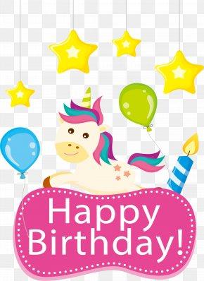 Unicorn Birthday Card - Birthday Cake Greeting Card Happy Birthday, Henrietta! Wish PNG