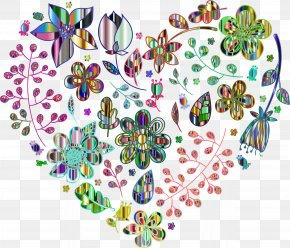 Flowers Pattern - Desktop Wallpaper Color Heart Clip Art PNG