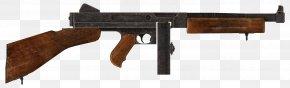 Machine Gun - Fallout: New Vegas Thompson Submachine Gun .45 ACP Weapon PNG