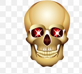 Glowing Eyes Of The Cranial Skeleton Head - Head Eye Skull PNG