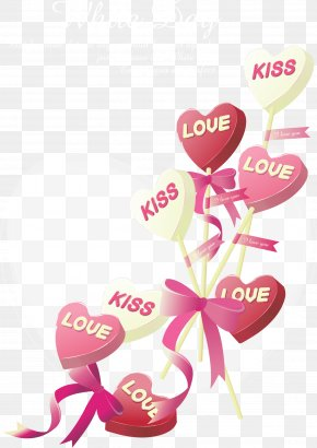 Valentine's Day Kiss Sign Vector - Valentines Day Wish Greeting Card E-card PNG