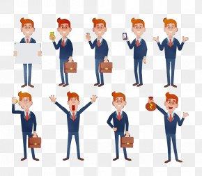 Job Employment - Cartoon Team Business Collaboration Gesture PNG