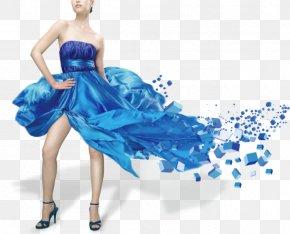 Biography Blue Dress Model - Fashion Model Lakme Fashion Week Fashion Photography PNG