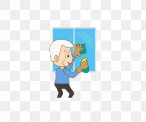 The Grandfather Cleaned The Window Pattern - Window Pattern PNG