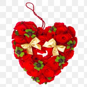 Heart-shaped Roses - Clip Art PNG