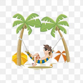 Summer Holiday - Beach Cartoon Clip Art PNG