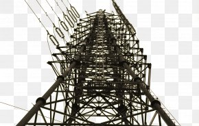 High Voltage Tower - Structural Steel Electricity Electrical Steel Transmission Tower PNG