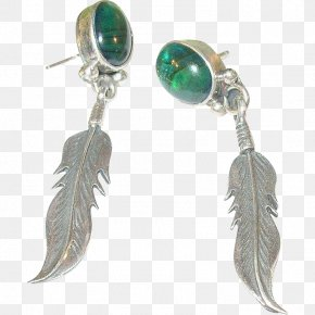 Jewellery - Turquoise Earring Body Jewellery Feather PNG