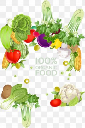 Vegetables Border - Vegetarian Cuisine Vegetable Fruit Illustration PNG