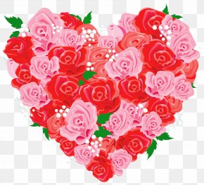 Rose Heart Cliparts - Heart Rose Love Valentine's Day Clip Art PNG