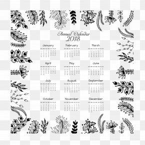 Leaf Frame 2018 Calendar Templates - Calendar Euclidean Vector Template Icon PNG
