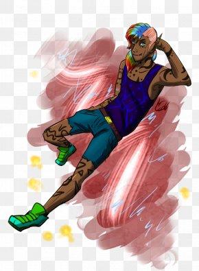 Rainbow Hair - DeviantArt Doodle Sketch PNG