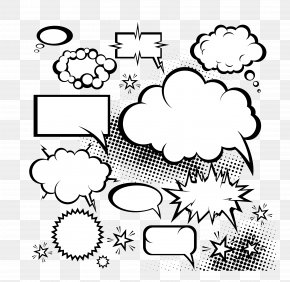 Vector Cloud Comics Explosion Dialog - Comics Speech Balloon Comic Book Dialogue PNG