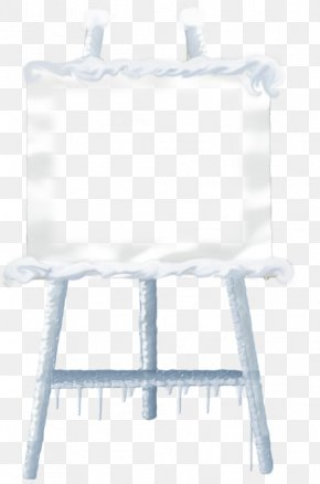 Winter Button - Easel Watercolor Painting Image Clip Art PNG