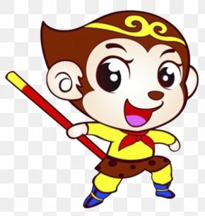 A Cartoon Monkey With A Curse - Sun Wukong Journey To The West Monkey Chinese Zodiac PNG