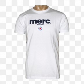 T-shirt - T-shirt Merc Clothing Sleeve Logo PNG