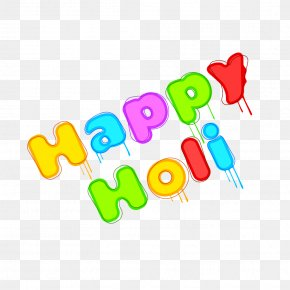 Happy Holi Text - Clip Art Brand Logo Product Design PNG