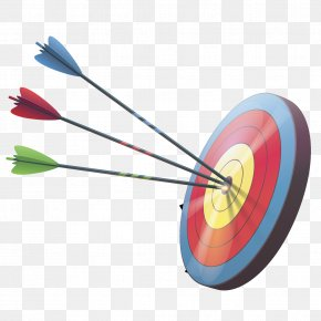 Vector Arrows And Targets - Target Archery Arrow Darts PNG