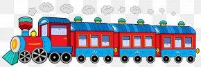 Cartoon Cute Old Steam Train - Train Rail Transport Passenger Car Clip Art PNG