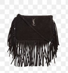 SaintLaurent Suede Fringed Bag - Yves Saint Laurent Handbag Suede Fringe PNG