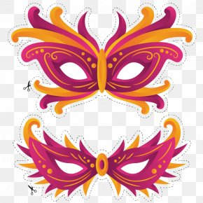 Dance Mask Feather Vector - Mask Carnival Masquerade Ball Euclidean Vector Party PNG