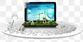 Three-dimensional Cartoon Computer Decoration - Technology Layers Computer File PNG